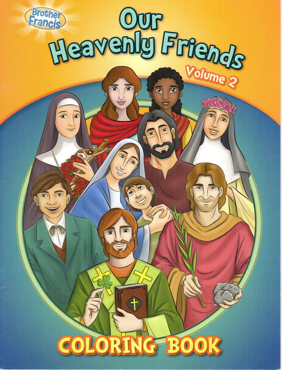 Brother Francis - Our Heavenly Friends Volume 2 - Colouring Book