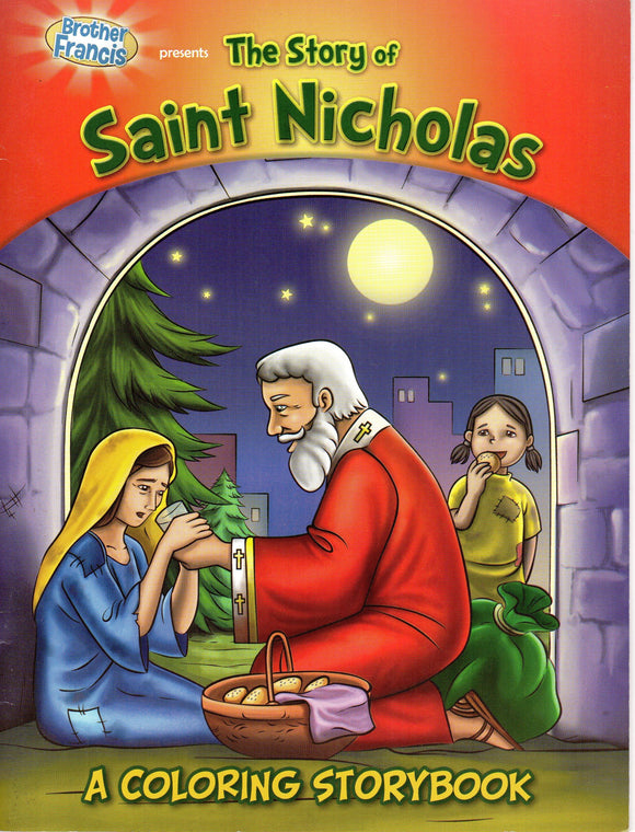 Brother Francis - The Story of Saint Nicholas - A Colouring Storybook