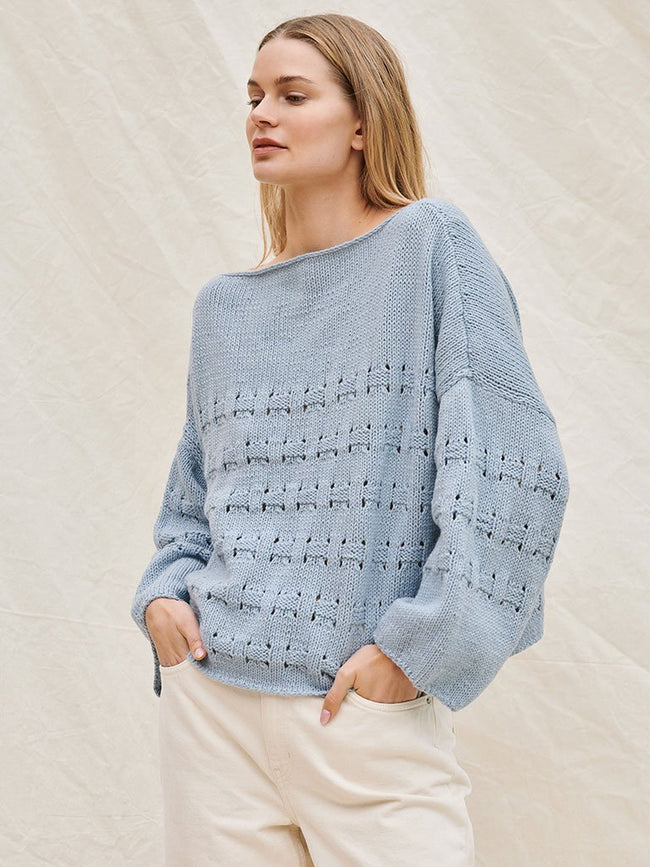 Strickpaket Fourseason Pullover in Flechtmuster