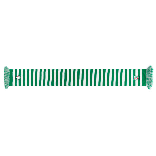 Classic Green & White Bar Scarf