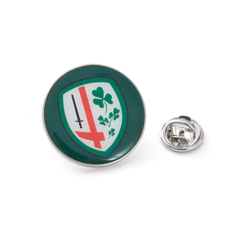 London Irish Crest Round Pin Badge