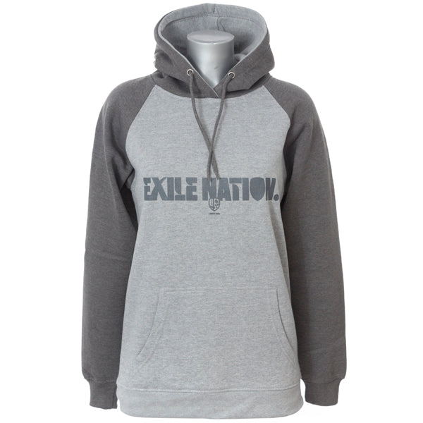 Ladies Two-Tone Grey EXILE NATION Hoodie