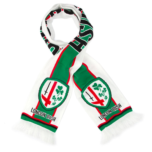 White & Green Stripe Scarf