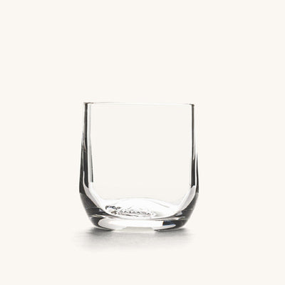 A clear cocktail glass.