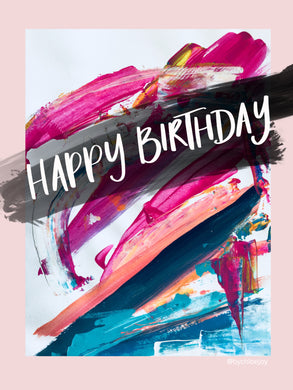 Pink Acrylic Birthday Card