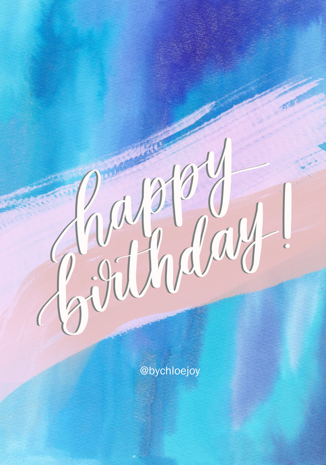 Blue water Birthday Card