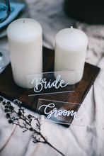 Load image into Gallery viewer, Wedding Acrylic Place Cards