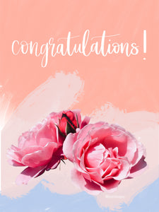 Congratulations Rose Card