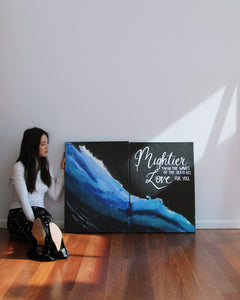 'Mightier Than The Waves' Original Acrylic Art