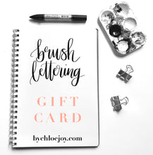 Load image into Gallery viewer, Brush Lettering Workshop Gift Card
