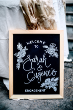 Load image into Gallery viewer, Blackboard Wedding/Event Sign