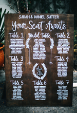 Load image into Gallery viewer, Wooden Wedding Seating Chart