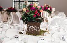 Load image into Gallery viewer, Wedding Wooden Table Numbers