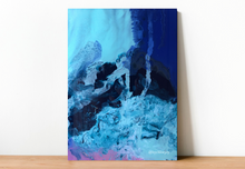 Load image into Gallery viewer, Blue Smoke Fine Art Print