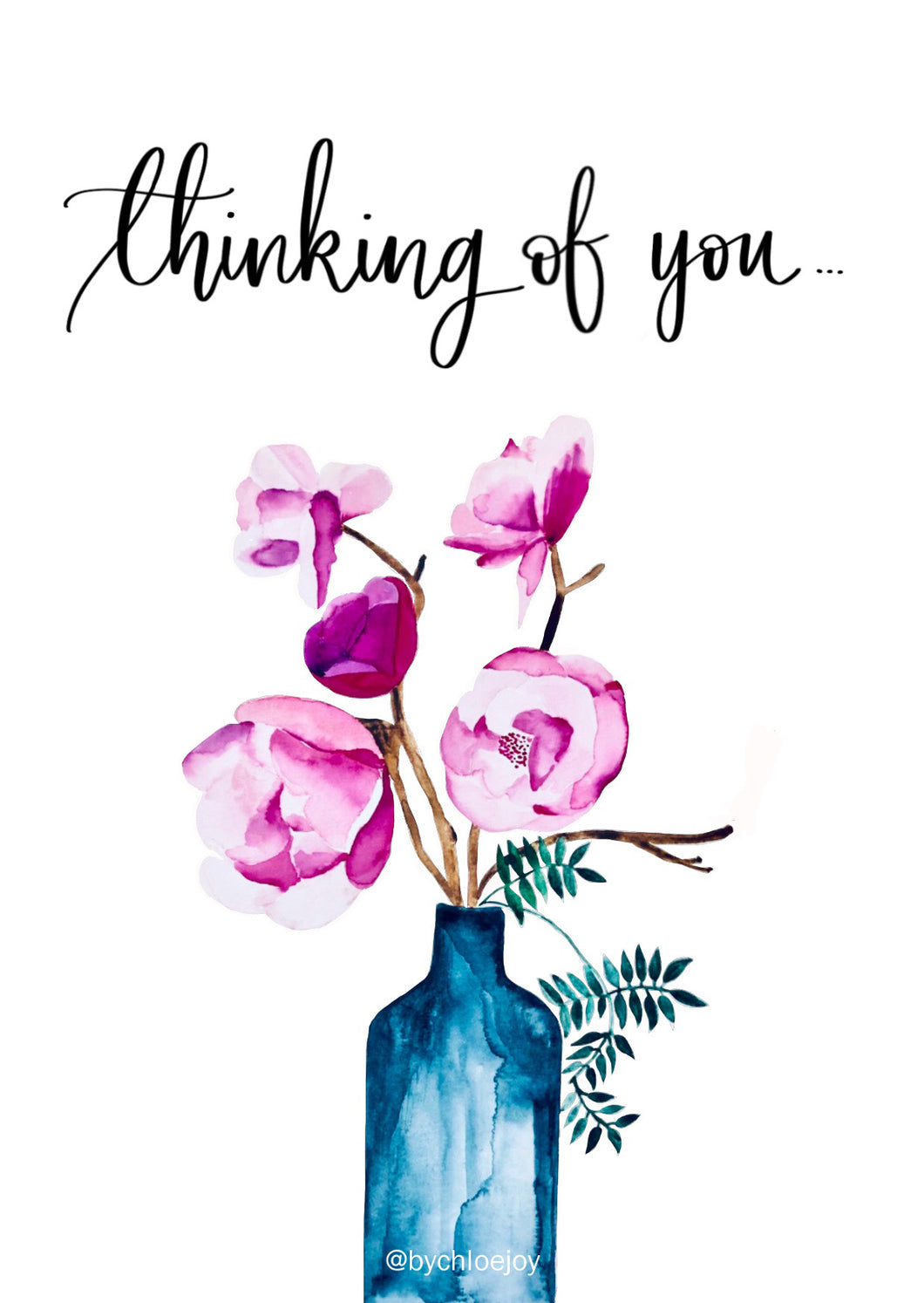 Peonies Thinking of You Card