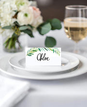 Load image into Gallery viewer, White Elegant Wedding Place Cards