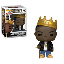 Load image into Gallery viewer, The Notorious B.I.G #77 - Notorious B.I.G. with Crown - Funko Pop! Rocks