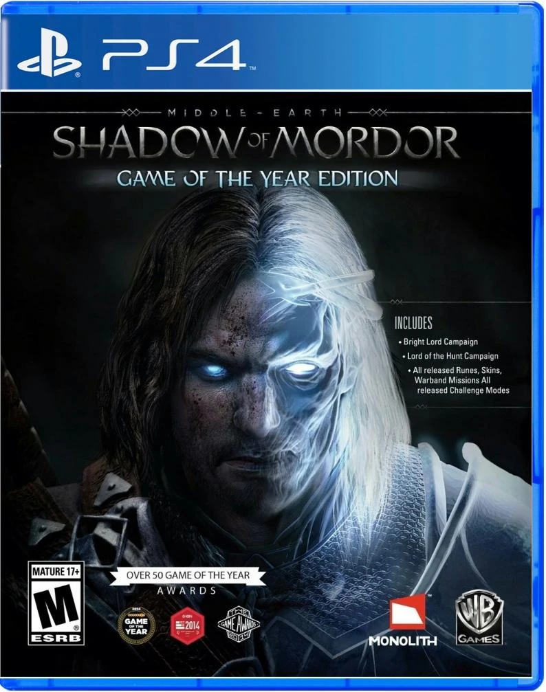 Middle Earth: Shadow of Mordor Game of the Year (US)