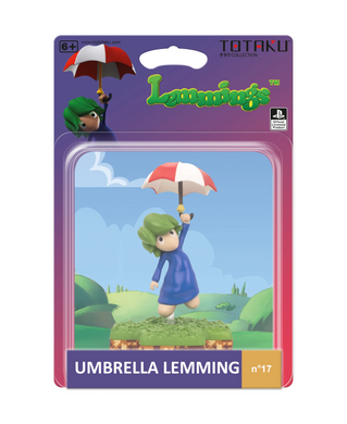 Lemmings - Umbrella Lemmings - Totaku Collection Figure #17