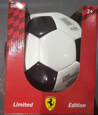 Ferrari 5 Machine Sewing Soccer Ball - Black/White