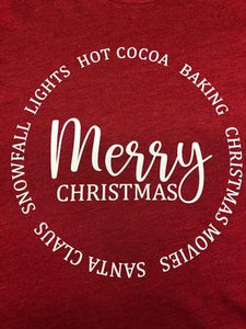 Festive Merry Christmas~ Long Sleeve Port & Co Fan Tshirt
