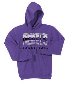 MCC Rebels Basketball Essential Fleece Pullover Hooded Sweatshirt