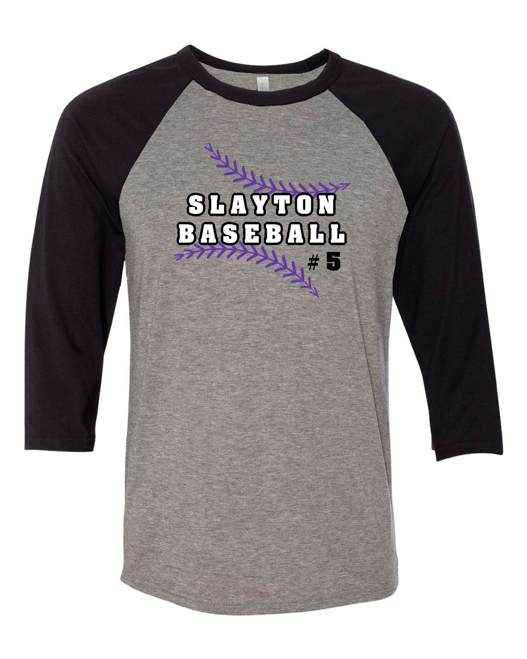 Slayton Baseball Bella Raglan 3/4 Sleeve
