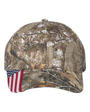 Outdoor Cap - Camo Cap with Flag Visor