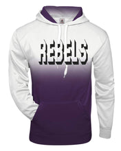 Load image into Gallery viewer, REBELS Badger - Adult Ombre Hooded Sweatshirt  Black or Purple