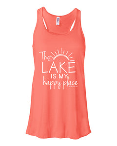 Lake Sarah or Lake Shetek Bella Racerback Tanks- Multiple Colors! Happy Place