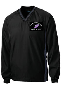 MCC TRACK & FIELD Sport-Tek® Tipped V-Neck Raglan Wind Shirt