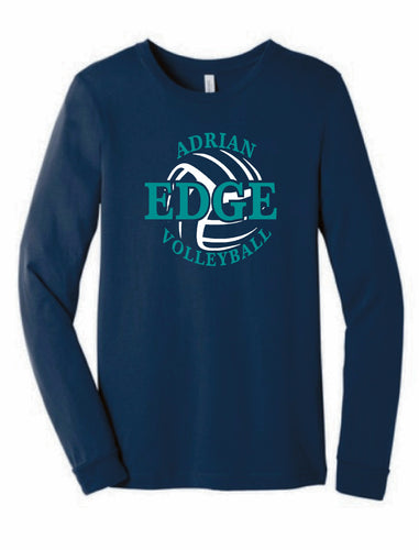ADRIAN EDGE VOLLEYBALL Bella + Canvas - Unisex Long Sleeve Tee-NAVY