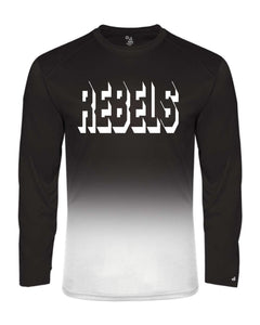 REBELS Badger - Youth Ombre Long Sleeve Shirt Black or Purple