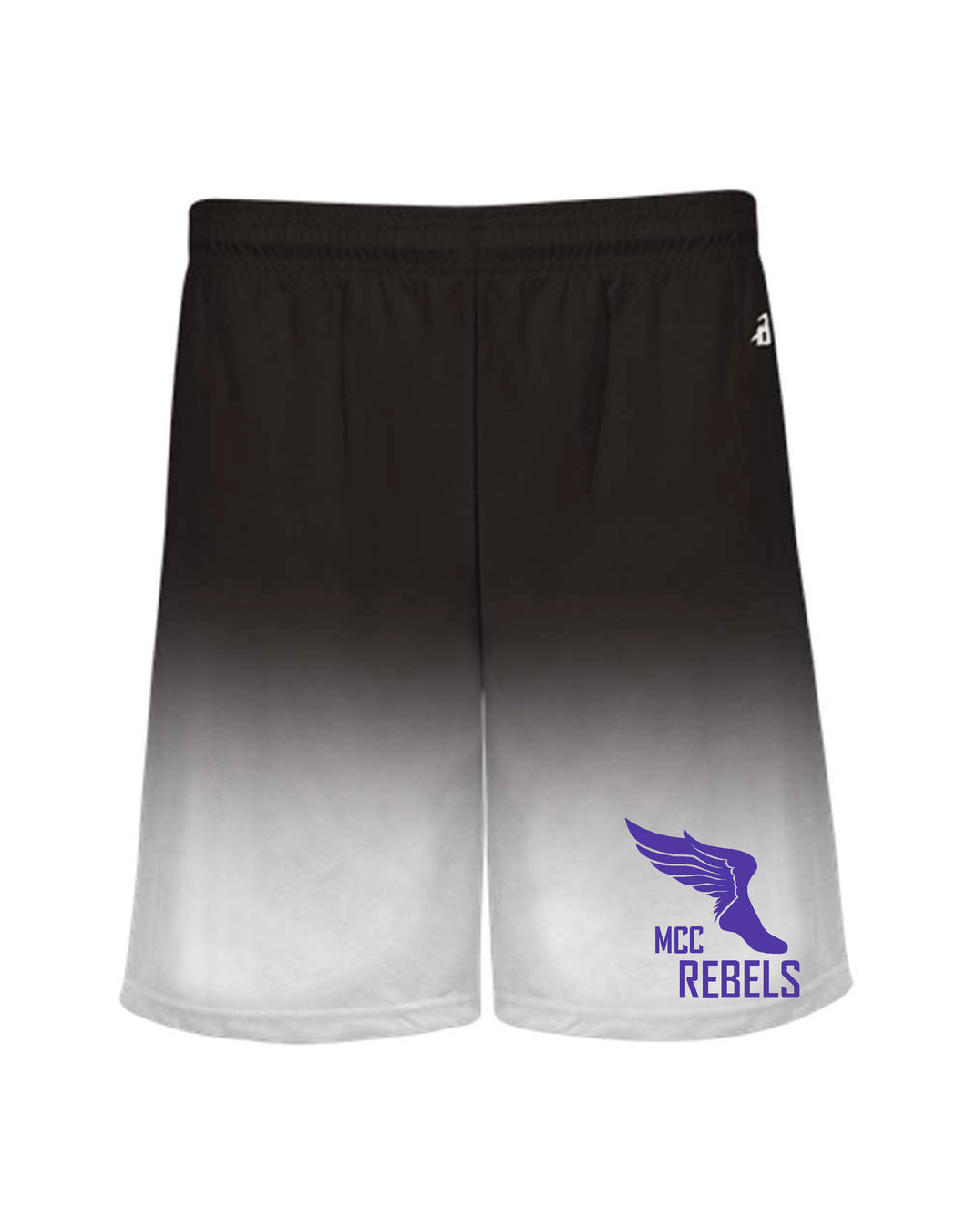 MCC TRACK & FIELD OMBRE BLACK SHORTS