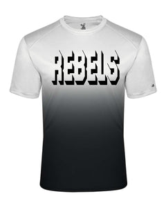 REBELS Badger - Youth Ombre Short Sleeve Shirt with  Color Choices