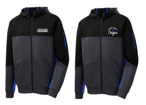 CCS Sport-Tek® Tech Fleece Colorblock Full-Zip Hooded Jacket-left chest embroidery