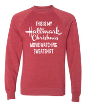 Load image into Gallery viewer, Hallmark Christmas Watching Sweatshirt - Independent Trading Co.