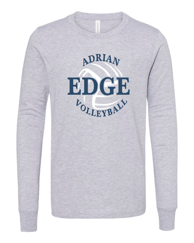 ADRIAN EDGE VOLLEYBALL Bella + Canvas - Unisex Long Sleeve Tee-GREY