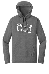 MCC GOLF New Era® Tri-Blend Performance Pullover Hoodie Tee- DESIGN CHOICE