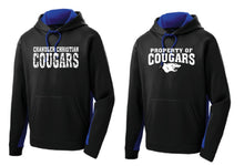 Load image into Gallery viewer, CCS SPORT-TEK COLORBLOCK HOODED PULLOVER-FULL FRONT DESIGN