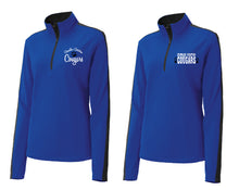 Load image into Gallery viewer, CCS SPORT-TEK LADIES FIT  COLORBLOCK 1/4 ZIP- LEFT CHEST EMBROIDERY