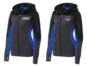 CCS Sport-Tek® Ladies Tech Fleece Colorblock Full-Zip Hooded Jacket-left chest embroidery