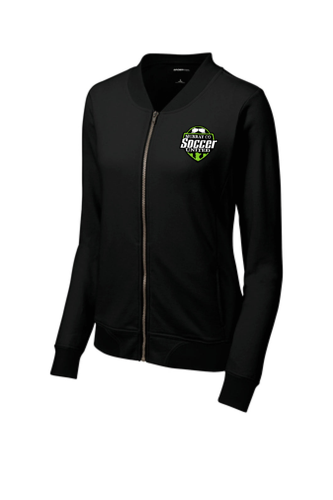 MURRAY COUNTY SOCCER UNITED FRENCH TERRY BOMBER FULL ZIP MENS OR LADIES  JACKET