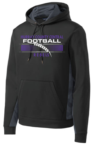 MCC Rebels Football  CamoHex Hooded Sweatshirt