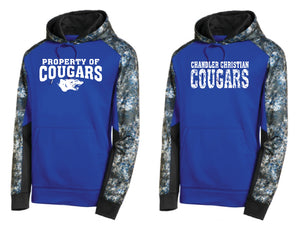 CCS SPORT TEK MINERAL FREEZE SWEATSHIRT-FULL FRONT DESIGN