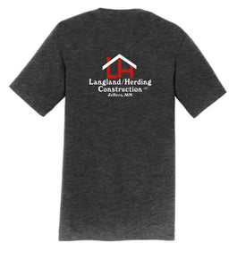Herding/Langland Construction Cotton TShirt- Dark Heather Grey