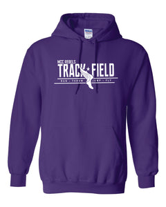 MCC TRACK & FIELD PURPLE HOODED SWEATSHIRT #1