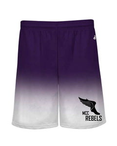MCC TRACK & FIELD OMBRE PURPLE SHORTS