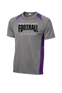MCC Football Sport-Tek® Heather Colorblock Contender™ Tee Purple