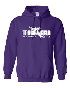MCC TRACK & FIELD PURPLE HOODED SWEATSHIRT #2